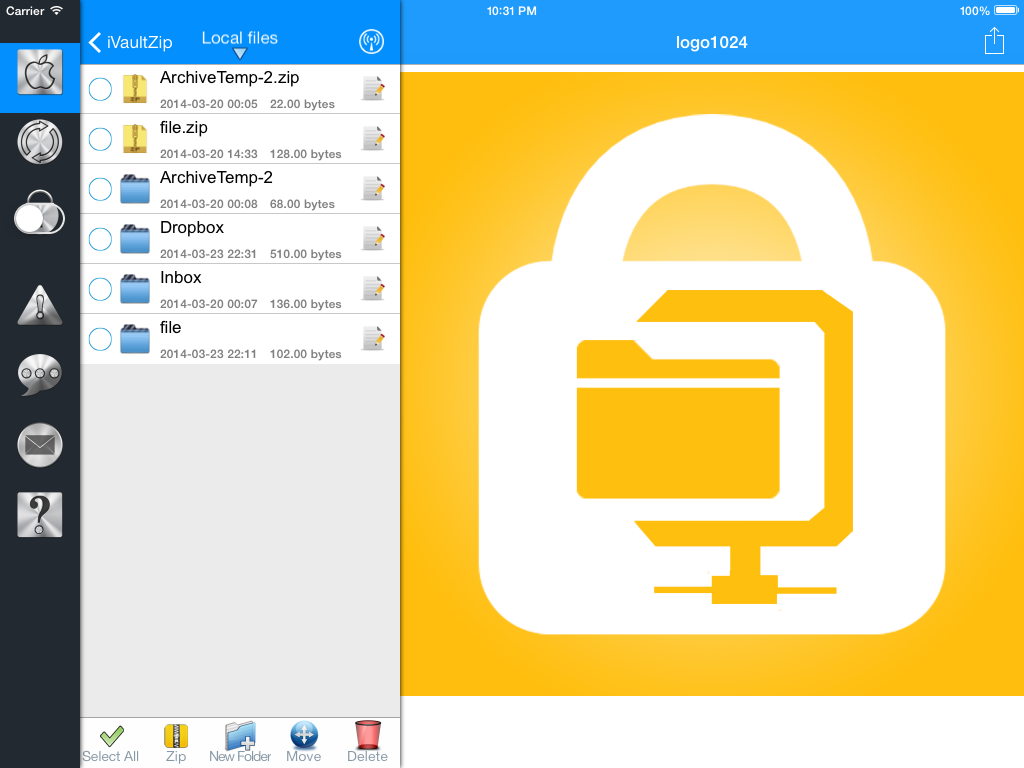 VN iOS ! Apps for iphone, ipad  Zip files for iPhone iPad